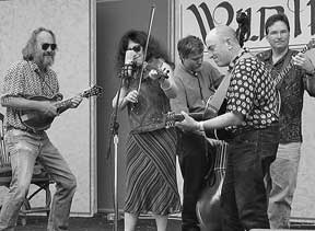 Thompson and the Bluegrass Intentions on stage